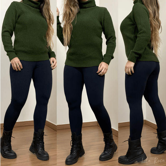 Blusa de Tricot Analu -  Verde Militar