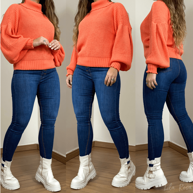 Blusa de Tricot Tangerina