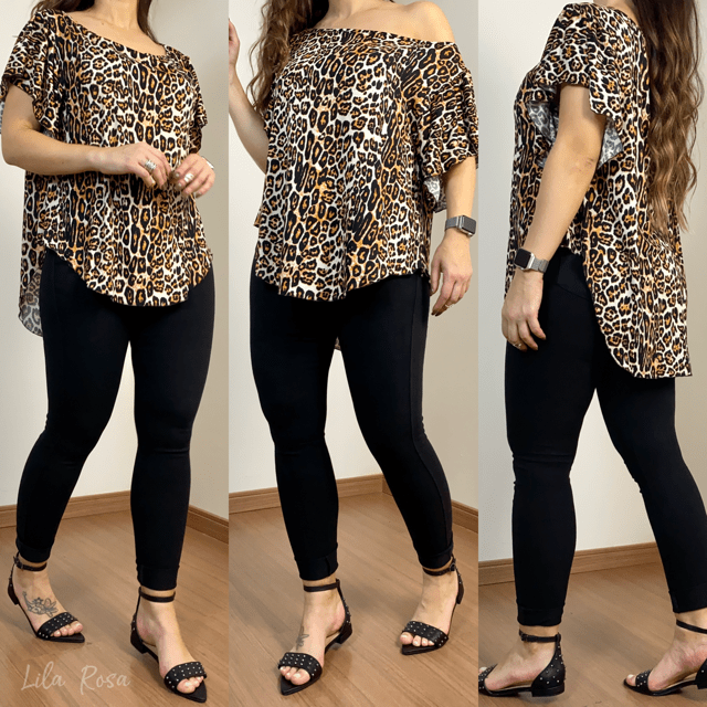Blusa Mullet Estampa Animal Print