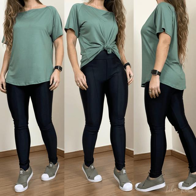 T-shirt manga curta - Verde Salsa