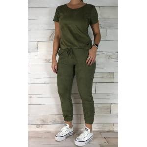 T-shirt Suede - Verde Militar