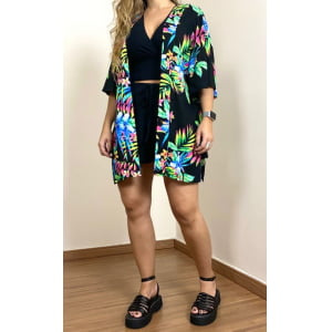 Kimono Black Luna