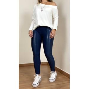 Blusa assimétrica manga longa - Off White