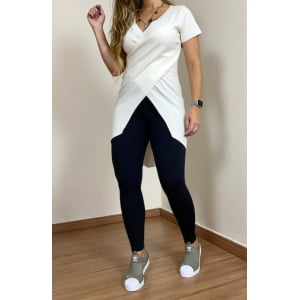 Blusa Canelada Cruzada - Off White