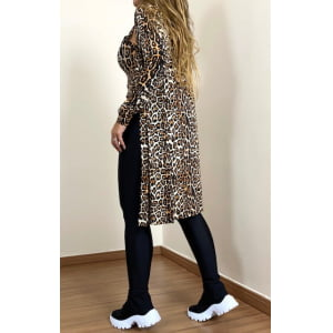 Conjunto Cardigan e t-shirt - Animal Print