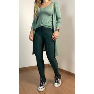 Conjunto Cardigan e t-shirt - Verde Oliva