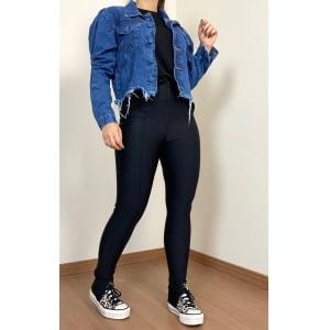 Jaqueta Jeans - Manga Princesa