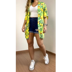 Kimono Tropical - Amarelo