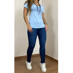 T-shirt Azul Bebê - Fio Soft