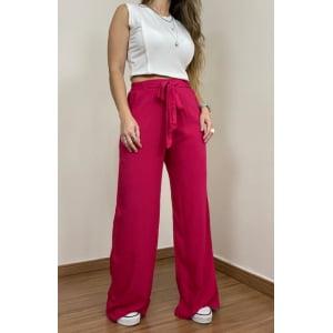 Calça Pantalona  - Pink