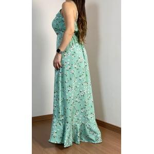 Vestido Alcinha Floral - Menta