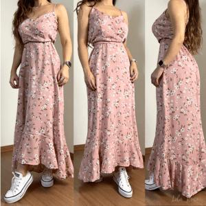 Vestido Alcinha Floral - Rosê