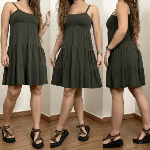 Vestido Malu - Verde Militar