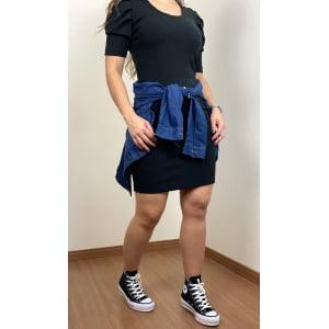 Vestido Manga Princesa Preto