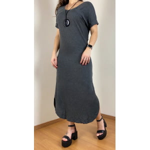Vestido Moletinho Chumbo